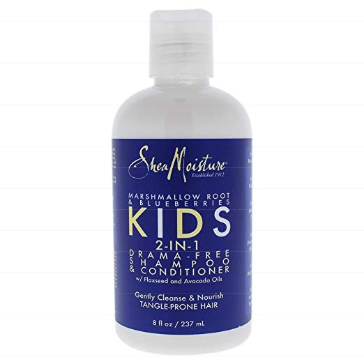 Shea Moisture Marshmallow Root And Blueberries Kids 2 In 1 Shampoo And Conditioner