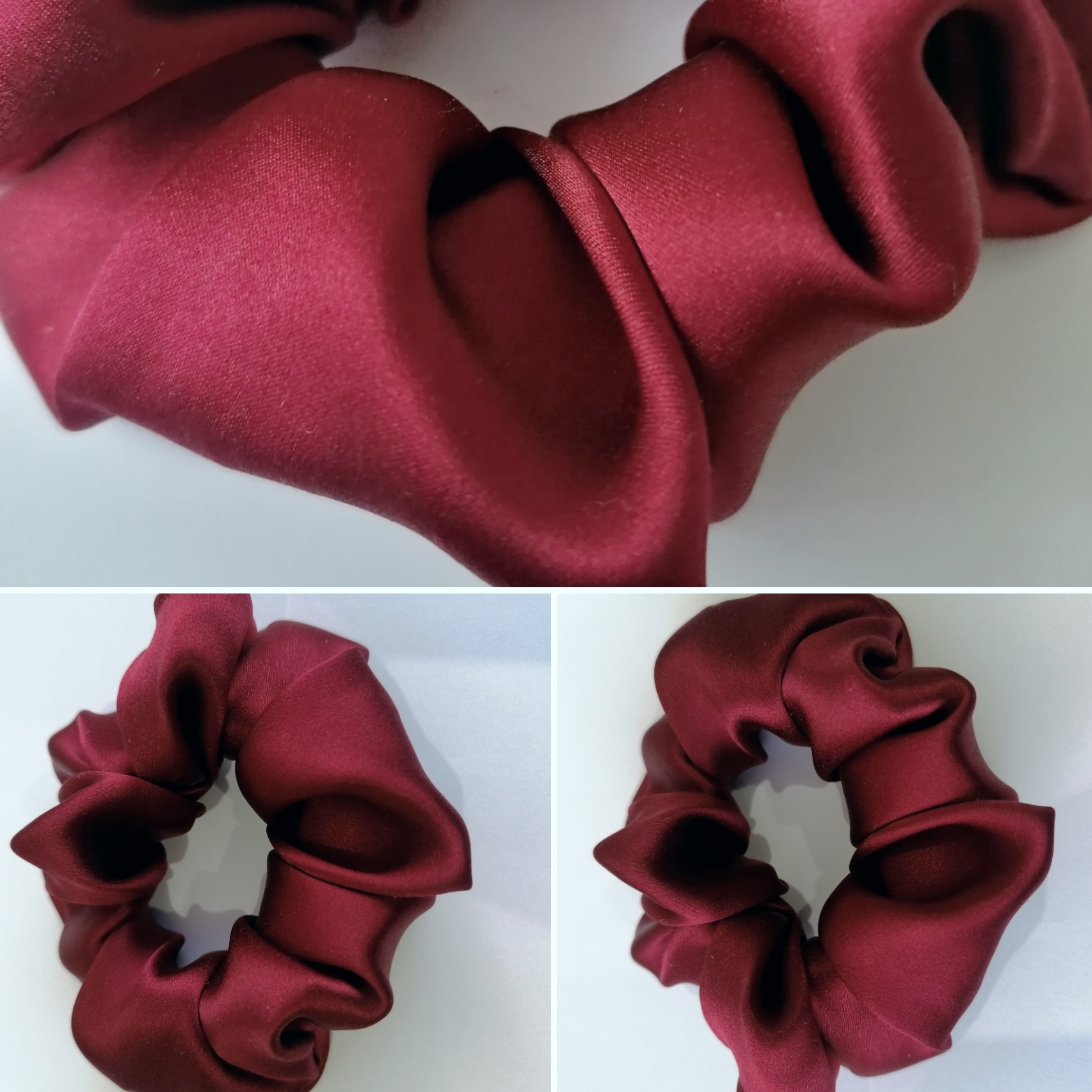 Scrunchie By Terrie - 100% hedvábí - Bordó