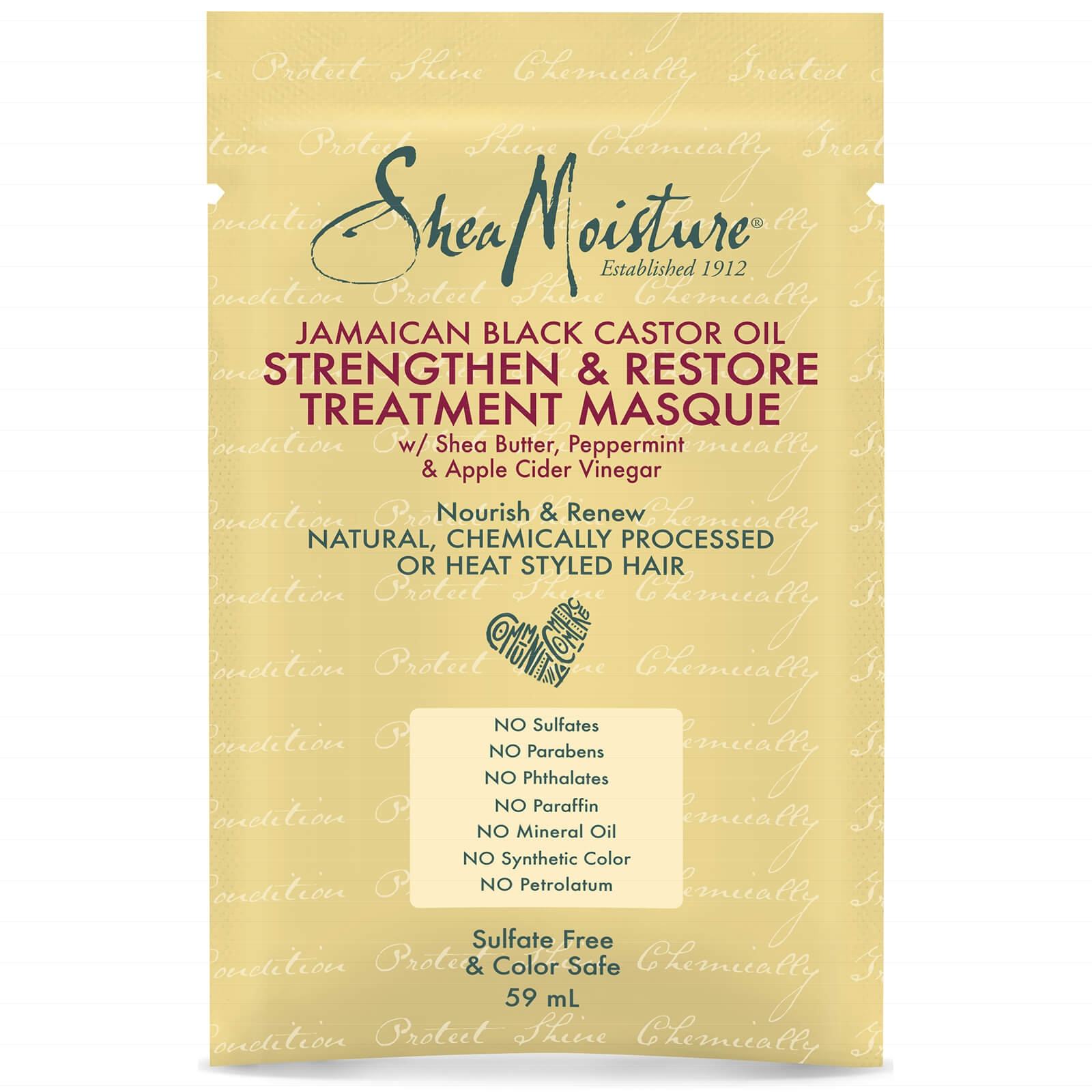 Shea Moisture Jamaican Black Castor Oil Treatment Masque - 59 ml