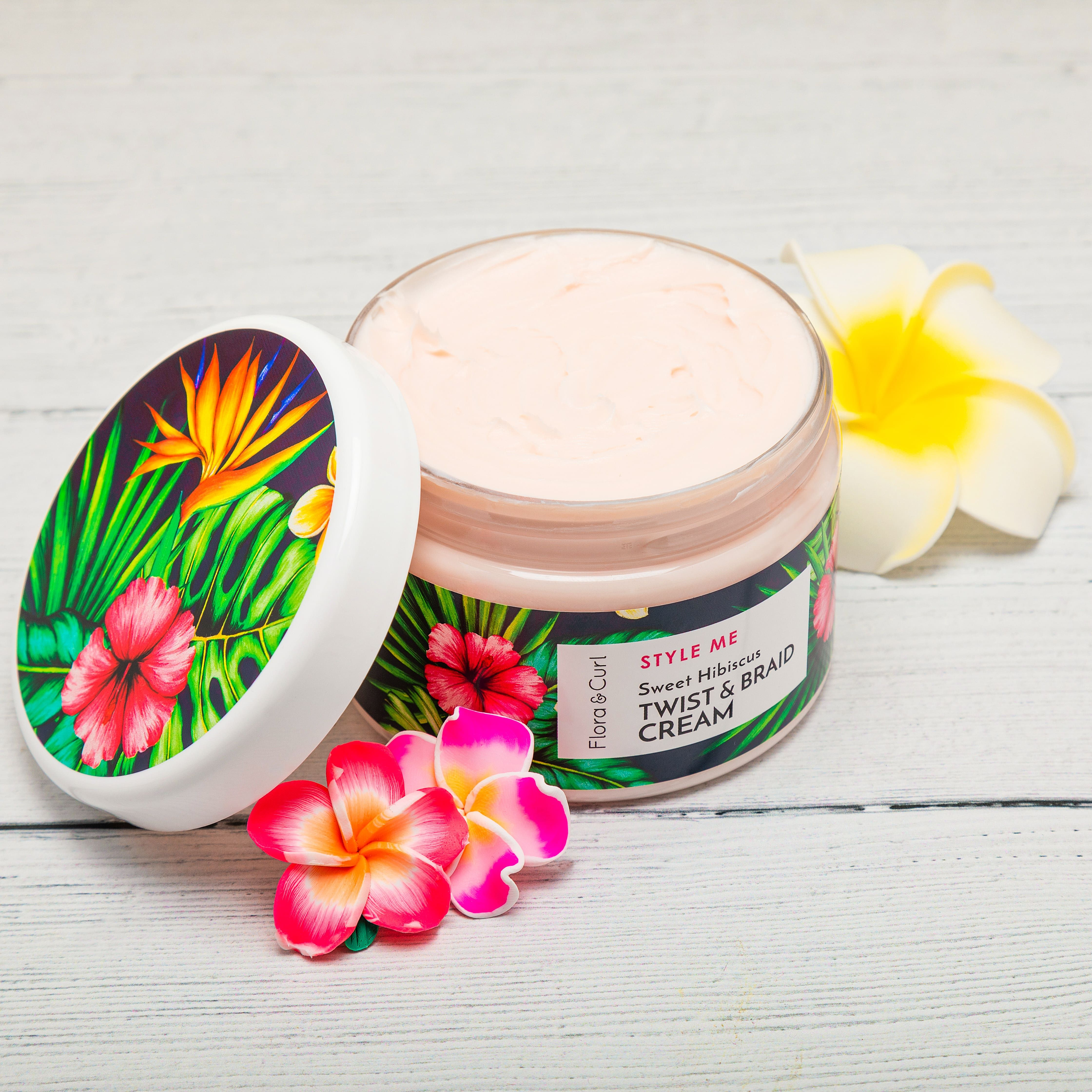 Flora Curl Sweet Hibiscus Twist & Braid Cream