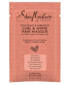 Shea Moisture Coconut And Hibiscus Curl And Shine Hair Masque - 59 ml