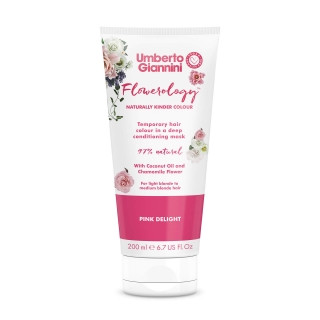 Umberto Giannini Flowerology Temporary Colour Mask – Pink Delight